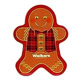 Walkers Shortbread Gingerbread Man Tin, 48 Mini Gingerbread Men Cookies, 10.6 Ounce
