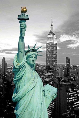 Freiheitsstatue - Colourlight New York Poster - Grösse cm