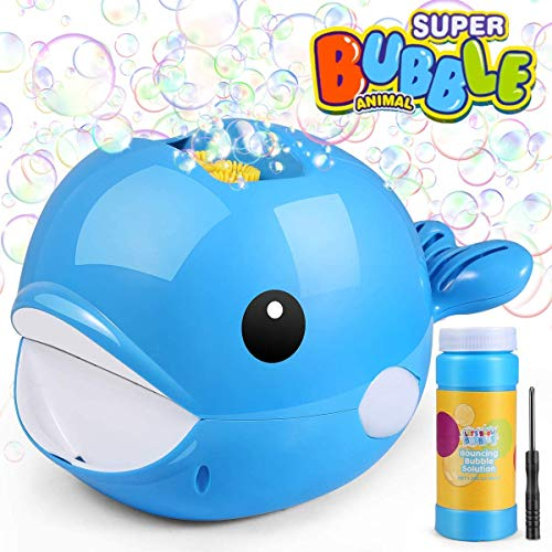 Bubble Machine, Automatic Whale Bubble Blower,Make 2000 Bubbles Per Minute, Gifts Toys for Boys/Girls/Kids, Outdoors & Party & Wedding