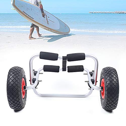 Soporte de aluminio para canoa, carrito mediano, remolque para kayak 150 lbs/68 kg, remolque para barcos, canoa y kayaks