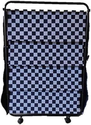 Steel Craft Canvas & Black Powder Coated MS Cloth Organizer/Shoe Rack (36 inch X 24 inch)