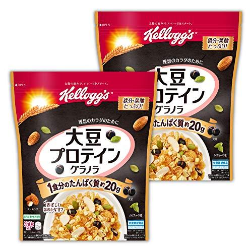【Amazon.co.jp限定】 ケロッグ 大豆プロテイングラノラ袋 350gx2個セット【セット買い】