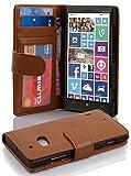Cadorabo Hülle für Nokia Lumia 929/930 in Cognac BRAUN – Handyhülle mit Magnetverschluss & 3 Kartenfächern – Hülle Cover Schutzhülle Etui Tasche Book Klapp Style