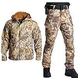 SR-Keistog Hombres Airsoft Caza Camuflaje Ejército Militar Uniforme táctico Pantalones de Combate Ropa de Caza Desert Python S