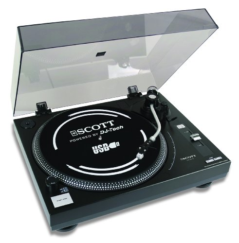 Scott DJX 60 TT Plattenspieler (Phono-Vorverstärker, USB 2.0) schwarz
