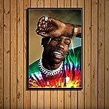 YIYEBAOFU DIY Pintar por números Travis Scott Music Star Rap Hip Hop Rapper Fashion Model Art Painting Silk Canvas Poster Wall Home Decor Quadro cuadros40x50cm(Sin Marco)