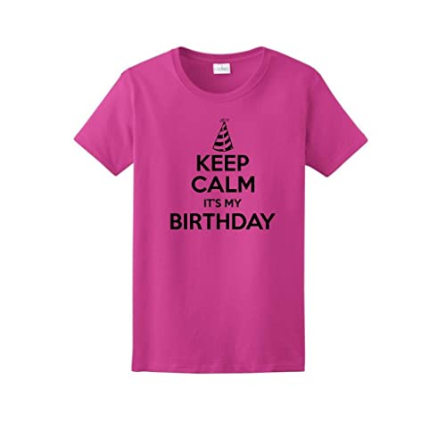 ThisWear Keep Calm Its My Birthday Ladies T Shirt