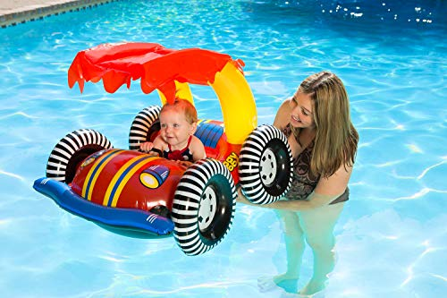 Poolmaster 81549 LearntoSwim Swimming Pool Float Baby Rider with Sun Protection Buggy