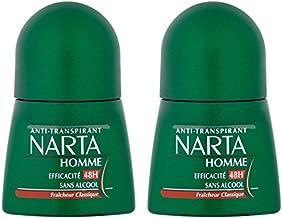 Narta - Déodorant Homme Bille Anti-Transpirant Classique Efficacité 24h - 50 ml - Pack of 2