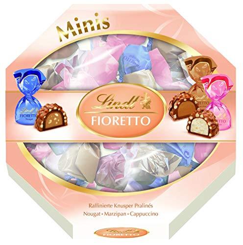 Lindt Fioretto Geschenkverpackung, Mischung von Fioretto Nougat, Fioretto Marzipan, Fioretto Cappuccino, 253 g