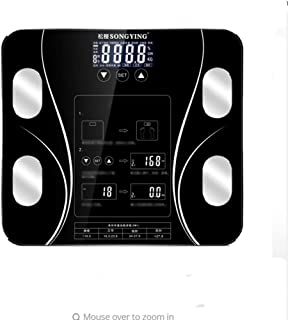 SHHDD Smart Weight Scale Electronic Intelligent Weight Scale Body Fat Bmi Weight Scale Digital Body Scale Portable Bathroo...