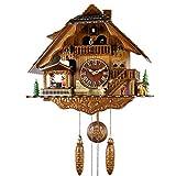 BCLGCF Horloge À Coucou Horloge De Chalet De La Forêt-Noire Horloge Murale en Bois À Quartz, Horloge À Quartz À Pendule Murale en Bois Fabriquée À La Main avec Maison De La Forêt Noire Musik