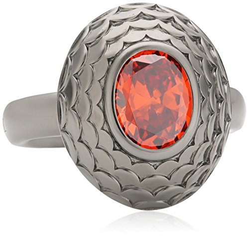 caï women Damen-Ring 925 Sterling Silber rhodiniert Zirkonia orange Gr.50 (15.9) C1464R/90/J5/50