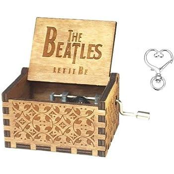 Cuzit - Caja de música con diseño de los Beatles Tallado Antiguo ...