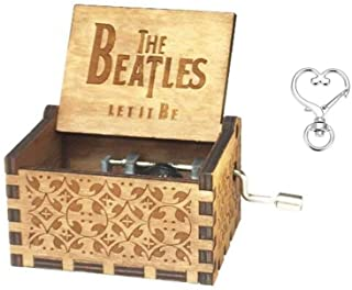 Reuvv Musique Boite Unique Acrylique Transparent Manivelle M/étal Mouvement Musique Boite Enfants Jouet No/ël Anniversaire Cadeau Cest Un Petit Monde Love Story