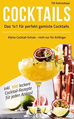 Das 1 x 1 für perfekt gemixte Cocktails: Kleine Cocktail-Schule - nicht nur für Anfänger inklusive 100 leckere Cocktail-Rezepte für jeden Anlass