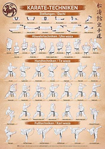 Spectra Verlag Karate | Karate Techniken Poster | DIN A1 – 594 x 841 mm