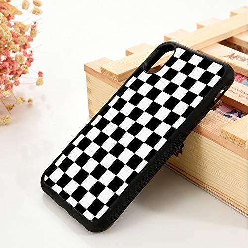 WGOUT para iPhone 5 5S 6 6S Funda de Gel de sílice de TPU Suavepara iPhone 7 Plus X XS 11 Pro MAX XR Hitam Catur, para iPhone 7