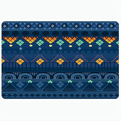 Alfombrilla de baño Patrón de dibujo tribal Soho Se puede utilizar Almohadillas abstractas Estilo de la India Texturas amarillas árabes Alfombras de baño de felpa decorativas tradicionales Alfombras D