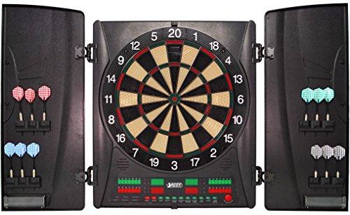 Best Sporting elektronische Dartscheibe Wembley Kabinett, Turnier LED Dartboard mit Netzteil und Dartpfeilen (Dartscheibe mit 12 Pfeilen)