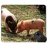 ラブリーピッグアンチスリップコンフォートゲーミングマウスパッド、動物おかしいかわいいピギーゲーミングマウスパッド