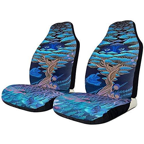 Stoelhoezen voor autostoelen Tree of Life Bird Fly Art universele stoelhoes voor voorstoelen, stoelbeschermers, voor auto's, vrachtwagens, SUV, van