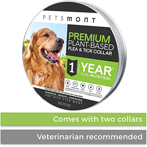 Petsmont Flea Collar for Dogs, Unique Plant-Based Formula