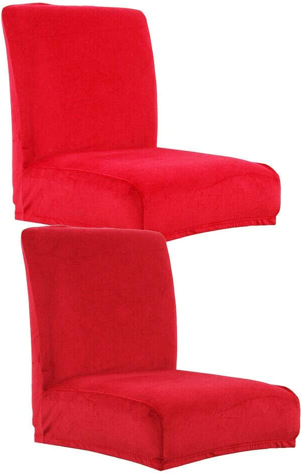Slipcovers 2 Red Color Velvet Stretch Ranking TOP13 Gifts Cafe Counter Pub Bar Stool