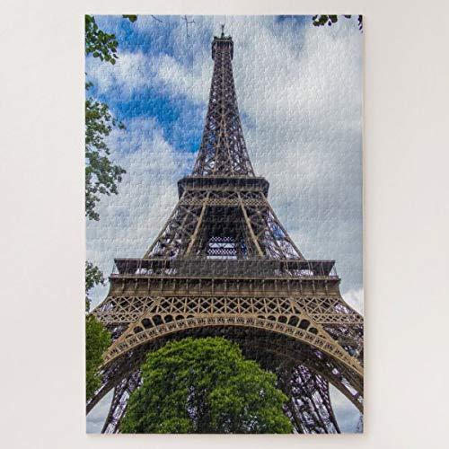 CICIDI Eiffel Tower in Paris, France Jigsaw Puzzle 1000 Pieces for Adult Entertainment DIY Toys , Graet Gift Home Decor