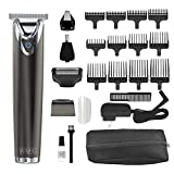 Wahl Stainless Steel Lithium Ion 2.0+ Slate Beard Trimmer for Men - Electric Shaver, Nose Ear Trimmer, Rechargeable All in One Men's Grooming Kit - Model 9864