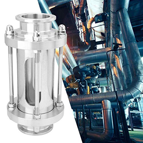 Durchflussschauglas-Dioptrien, 1,5 Zoll Explosionsgeschützter Edelstahl-Flansch für den Sanitärbereich Durchflussschauglas-Dioptrien, rost- und korrosionsbeständig, für Chemie-