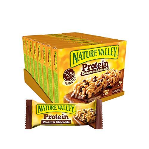 Nature Valley Protein Erdnuss und Schokolade, 8er Pack (8 x 160 g Multipack mit je 4 Proteinriegeln)