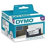 Dymo LabelWriter etichette per badge non adesive, 51 x 89 mm (rotolo da 300), stampa nera ...