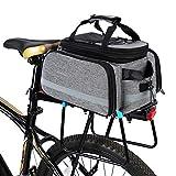Lixada Bike Rear Bag 25L Waterproof Bicycle Pannier Bag Saddle Bag Bicycle Rear Seat Bag Bike Carrier Trunk Bag MTB Bike Rack Bag