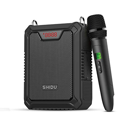 Bluetooth Voice Amplifier, 25W PA System with Handheld Wireless Microphone,Portable Waterproof Bluetooth Rechargeable Loud Speaker Power Bank for Outdoors, Teachers,Beach (M900-S)