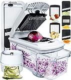Fullstar Mandoline Slicer Spiralizer Vegetable Slicer - Vegetable Chopper Onion Chopper Food Chopper...