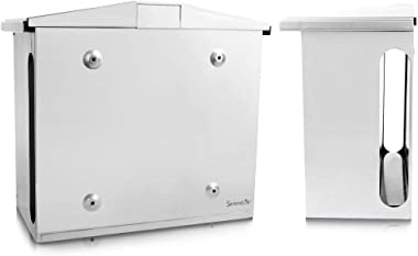 Serenelife Modern Wall Mount Lockable Mailbox Commercial Rural Home Decorative & Office Business Parcel Box Packages Drop