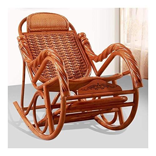 Muebles para el Hogar Silla cómoda meditación Silla de playa de mimbre Rattan reclinable mecedora