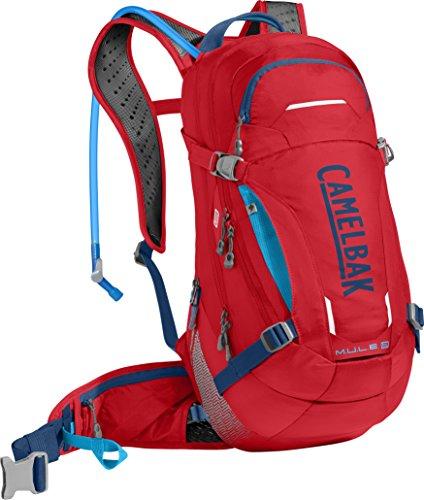 CAMELBAK 1112601000 Mochila de Hidratación, Hombre, Rojo (Racing Red) / Azul (Pitch Blue), Talla Única