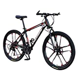 Kobay-women Adult Mountain Bike, 26 inch Wheels, Mountain Trail Bike High Carbon Steel