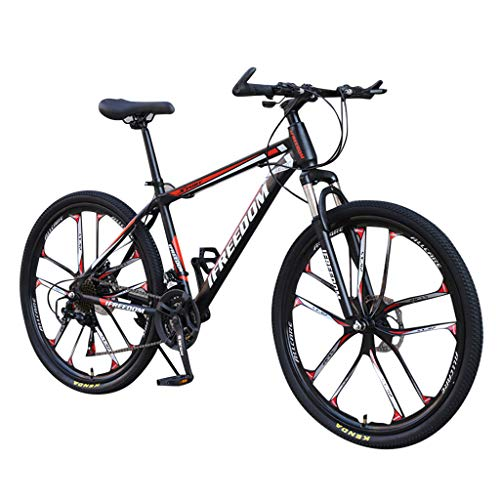 Bicicleta De Montaña Carretera Adulto Acero Alto Carbono Specialized Amortiguador Velocidad Ajustable Trek Bicicleta(26 Pulgadas, 21 Velocidades)