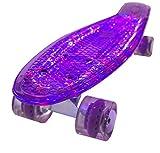 Bollinger GS-SB-X1V Penny Board con Luz, Unisex Adulto, púrpura, Talla Única