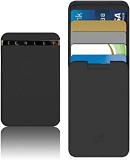 AutumnFall Recyclable Zenlet Credit Card Package Anti-Lost Wallet Action Wallet Push-Pull Card Holder with RFID Blocking Card (Black)