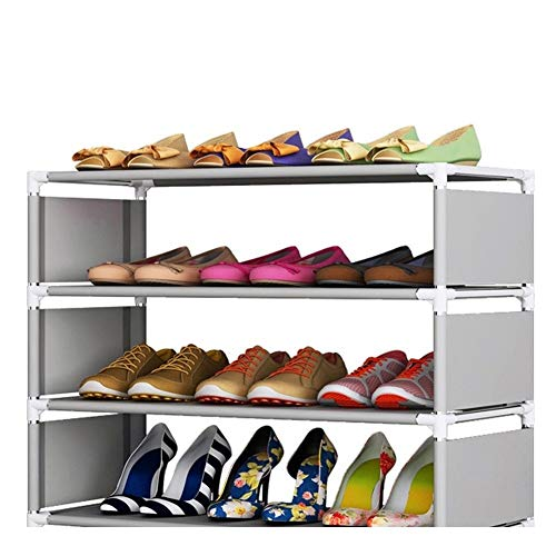 A-YSJ Zapatero DIY Stands Plegables Zapatos Estante Zapatero Tela a Prueba de Polvo del gabinete del sostenedor del Organizador fácil de Instalar (Color : 6A)