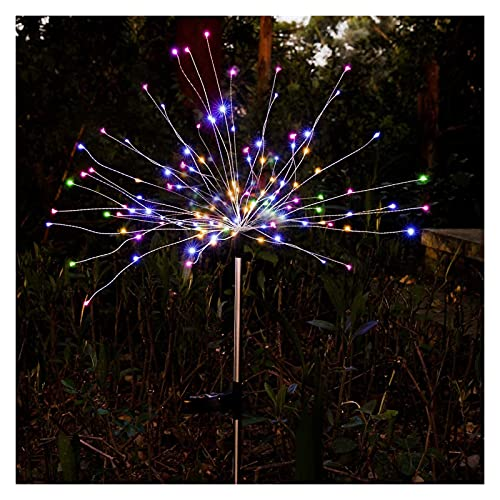 Luces decorativas de jardín solar 150 LED luces de fuego solar de luces de cobre alambres de cobre paisaje luz de bricolaje Flowers Fireworks estrellas para jardín Pasarela al aire libre Pathway Backy