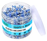 200PCS Blue Solder Seal Wire Connectors 16-14Awg,OURU Marine Grade Heat Shrink Wire Connectors,Waterproof Insulated Heat Shrink Solder Connectors,Butt Splice Wire Connectors