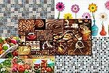 3D Wandpaneele Restposten! - große Auswahl von stabilen und pflegeleichten Mosaik PVC Platten - zur Wandverkleidung z. B. als Küchenrückwand - 1 Platte (52535)