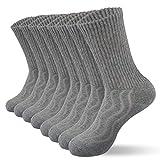 8 pares de calcetines diabéticos unisex calcetines de algodón transpirables y antibacterianos Calcetines de tripulación Grey9-11