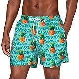 Urban Classics Herren PatternSwim Shorts Badehose, Pineapple AOP, 3XL
