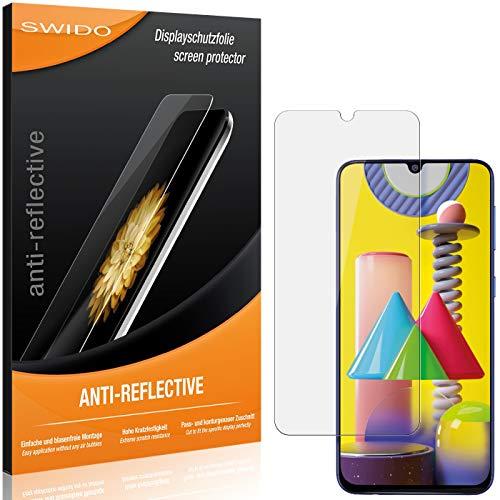 SWIDO Schutzfolie für Samsung Galaxy M31 Prime [2 Stück] Anti-Reflex MATT Entspiegelnd, Hoher Härtegrad, Schutz vor Kratzer/Folie, Displayschutz, Displayschutzfolie, Panzerglas-Folie